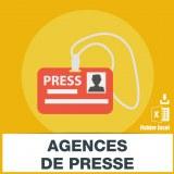 Adresses emails agences de presse