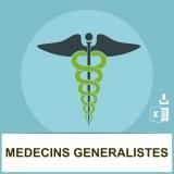 Adresses emails médecins généralistes