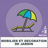 Adresses emails mobilier de jardin