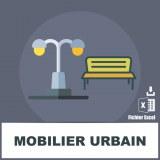 Base e-mails mobilier urbain