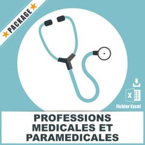 Emails professions médicales et paramédicales