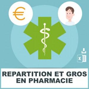 Emails des pharmaciens grossistes répartiteurs