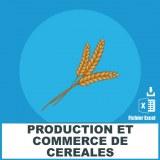 Emails production commerce de céréales
