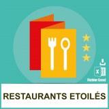 Base adresses emails restaurants étoilés