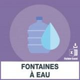 Adresses e-mails fontaines à eau