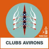 Adresses e-mails clubs aviron