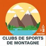 Adresse e-mails sports de montagne