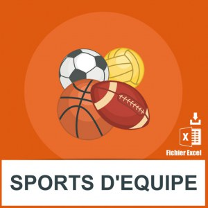 Adresses e-mails sports collectifs
