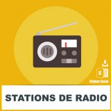 Adresses e-mails stations de radio