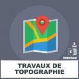 Emails travaux de topographie