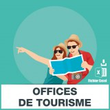 E-mails offices de tourisme syndicats initiative