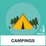 Base d'adresses e-mails des campings