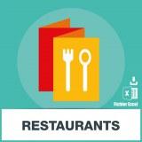 Base d'adresses emails de restaurants