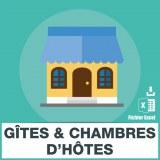 E-mails de gites et chambres hotes