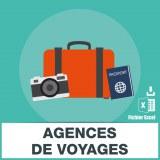 Adresses emails agences de voyage