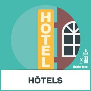Base d'adresses emails d'hôtels