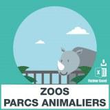 Base d'adresses emails de zoos et parcs animaliers