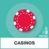 Base d'adresses emails de casinos et établissements de jeux
