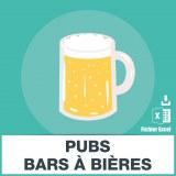 Emails des pubs et bars à bière