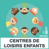 Emails centres vacances enfants et loisirs