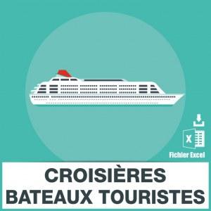 Base d'adresses emails des croisières et bateaux touristiques