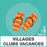 Emails des villages clubs vacances
