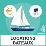 Adresses emails locations de bateaux