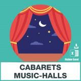 Base d'adresses emails des cabarets et music-halls