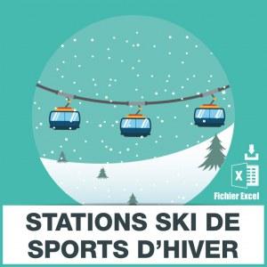 E-mails stations ski sports hiver
