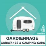 Base e-mail de gardiennage caravanes et de camping-cars