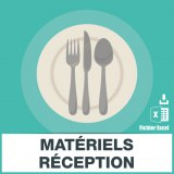 E-mails location materiel reception