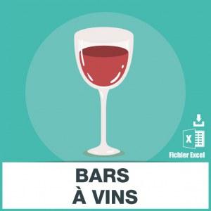Adresses e-mails bars à vin