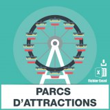 Adresses emails parcs d'attractions