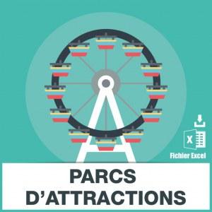 Adresses emails parcs d'attractions