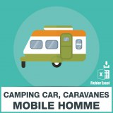 Emails caravane mobile home camping car