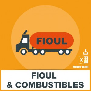 Base adresse emails fioul combustibles